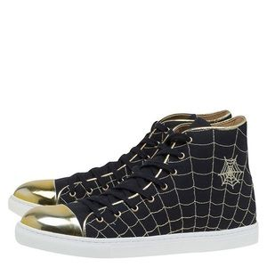 Charlotte Olympia BlackGold Web High Tops Sneakers